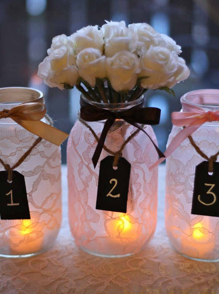 Mason Jar Wedding Centerpieces.Decorating Mason Jars For Wedding Reception Flisol Home