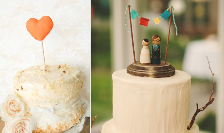 8 creative wedding cake toppers 8 creative wedding cake toppers handmade weddings junglespirit
