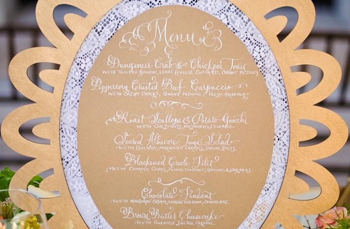 handmade wedding stationery decor using kraft paper Etsy weddings menu