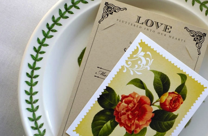 handmade wedding stationery decor using kraft paper Etsy weddings romantic invite