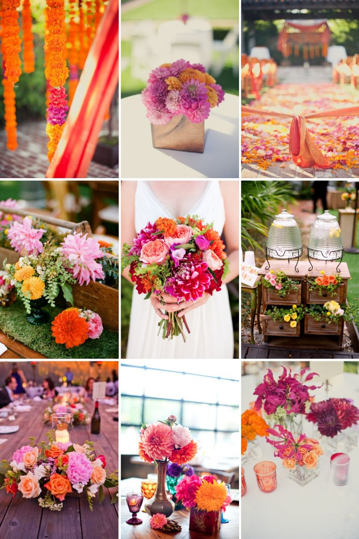 wedding color palettes berry and tangerine outdoor weddings