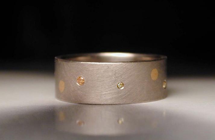 wedding inspiration from Etsy polka dots grooms wedding band