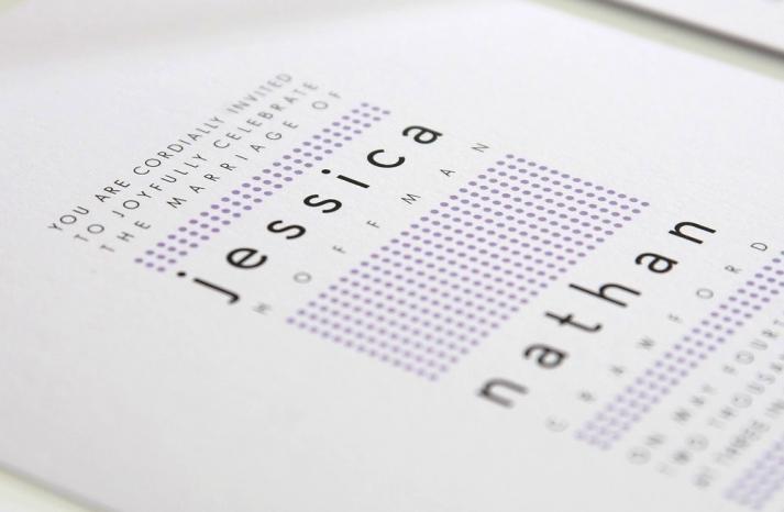 wedding inspiration from Etsy polka dots modern invitations