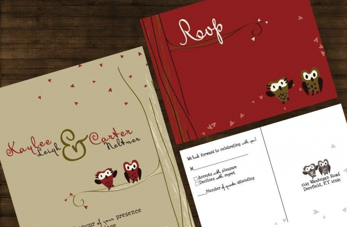 owls for the wedding 2012 reception trends handmade fall invitations