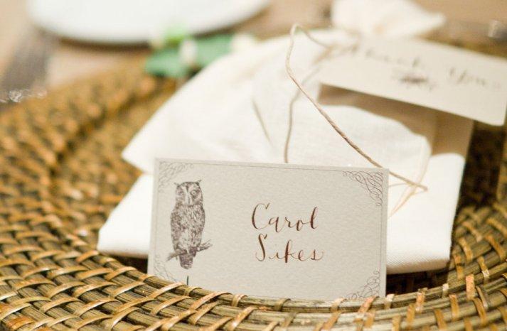 owl wedding pretties for whimsical fall weddings escort cards