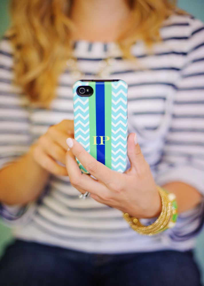 favorite iphone cases for brides modern tech weddings chevron monogram