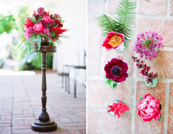 jewel tone wedding flowers ruby scarlett amythest