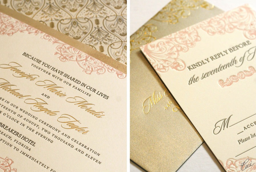 Foil Stamped Invitations as perfect invitation sample