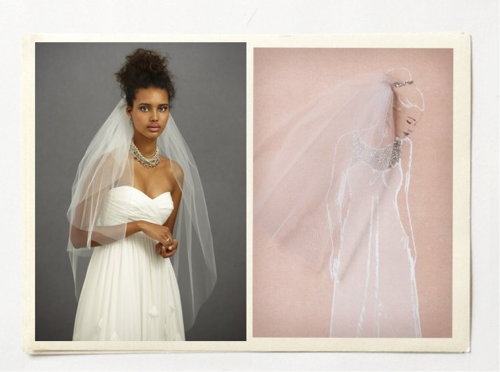 unique wedding ideas for edgy vintage brides BHLDN veils
