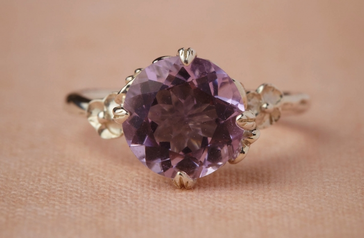 wedding jewelry for vintage brides BHLDN bridal ring amethyst