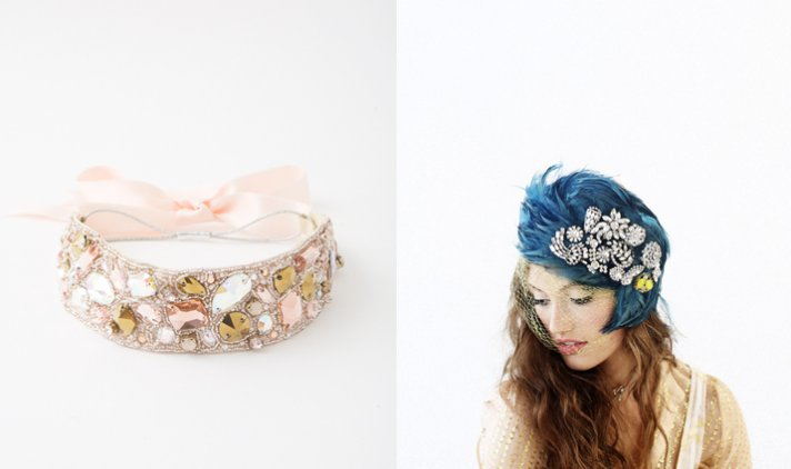 bridal accessories wedding hair flowers vintage ban do 2