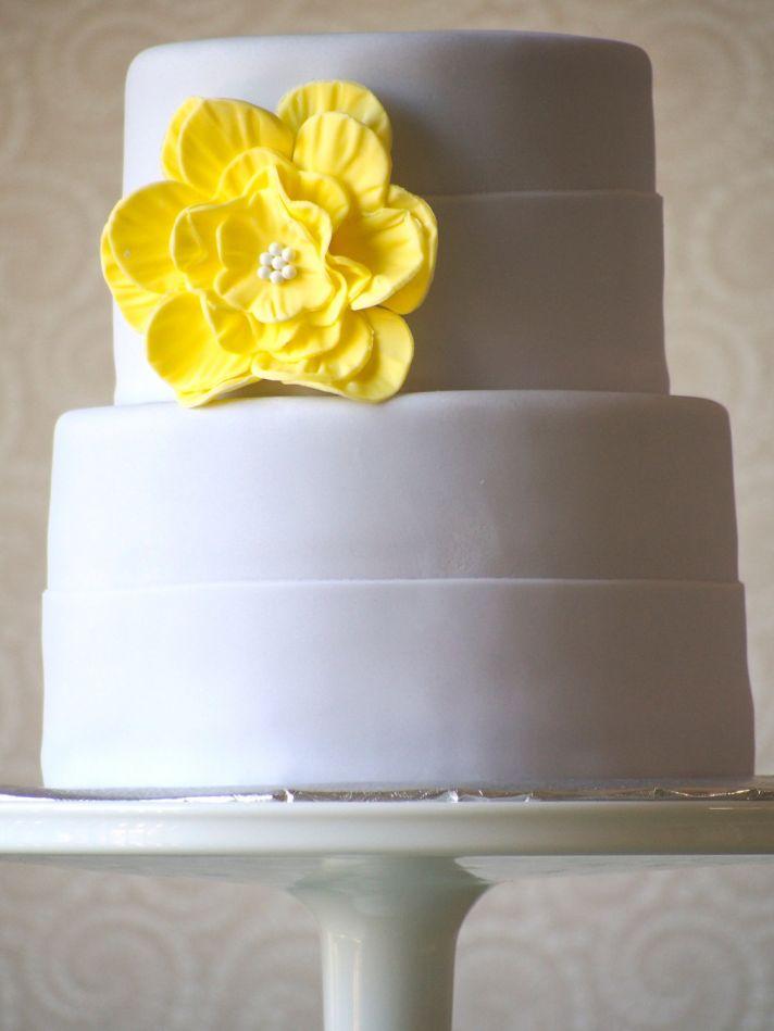 fondant wedding finds to add sweetness to handmade weddings yellow cake flower