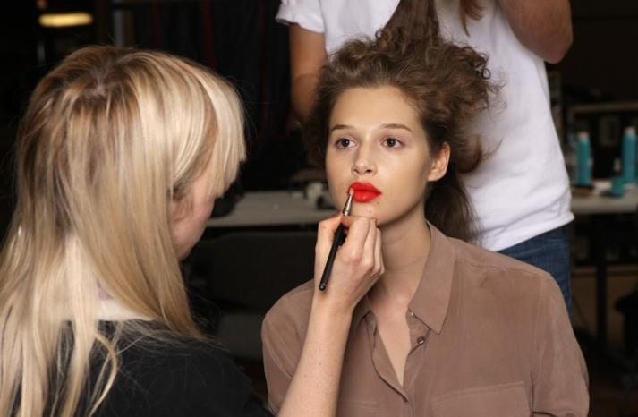 bridal beauty inspiration London fashion week wedding makeup ideas Paul Smith red lips