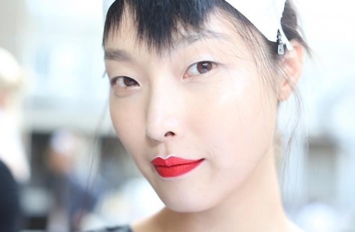 bridal beauty inspiration wedding day makeup Prada Milan fashion week 1
