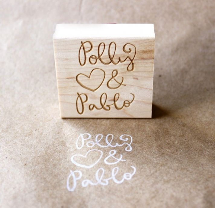 personalized wedding ideas top 5 for DIY weddings custom stamp
