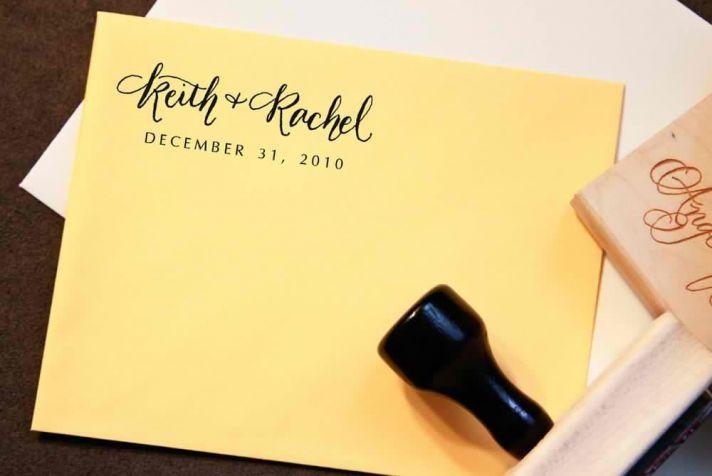 5 easy ways to personalize the wedding DIY weddings wedding date stamp