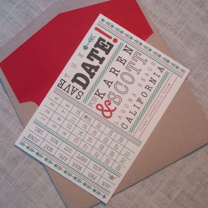 wedding save the dates 5 more brilliant ideas punch card 2