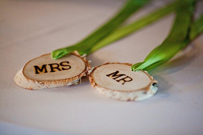 Kansas City wedding rustic Mr Mrs signs