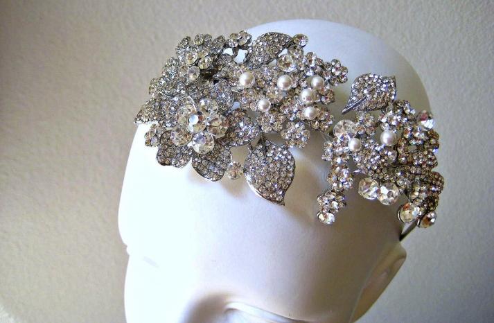 bejeweled bride wedding accessories bridal crown