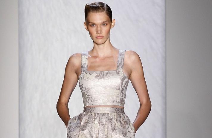 bridal updo wedding hair inspiration fashion week swooped style