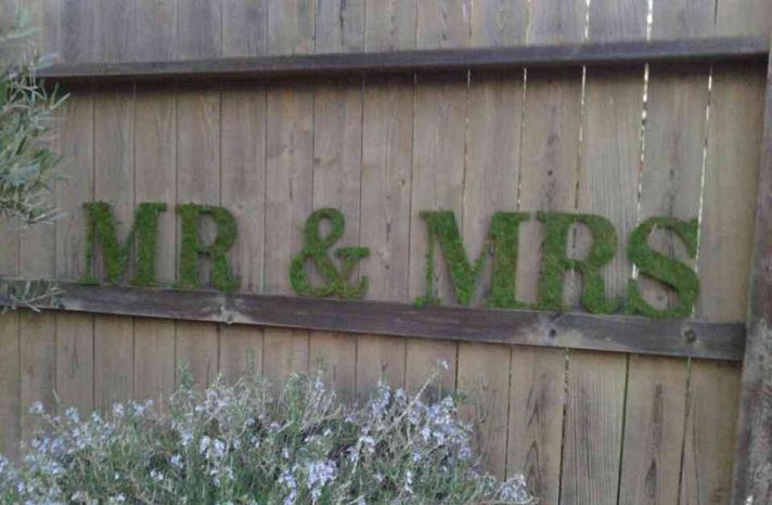 memorable moss wedding decor for ceremony reception mr mrs sign