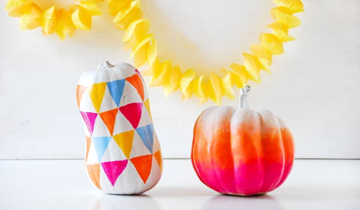 ombre pumpkin wedding DIY for fall