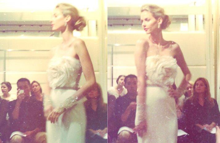 instagram shots from bridal fashion week Spring 2013 wedding dresses 7