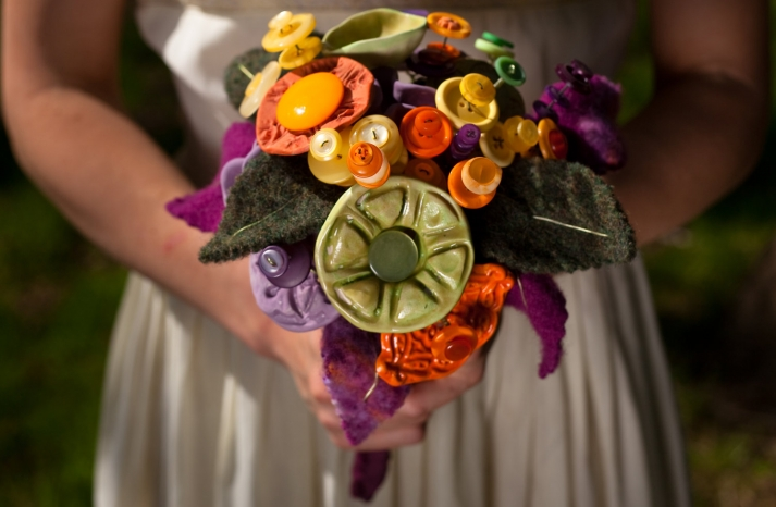 eco friendly wedding finds recycled on Etsy rustic alternative bouquet
