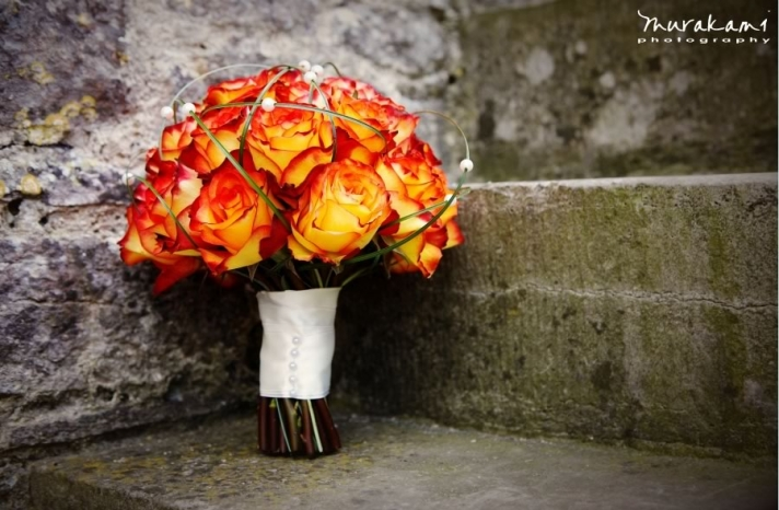 fall wedding flowers bouquets and centerpieces flame roses