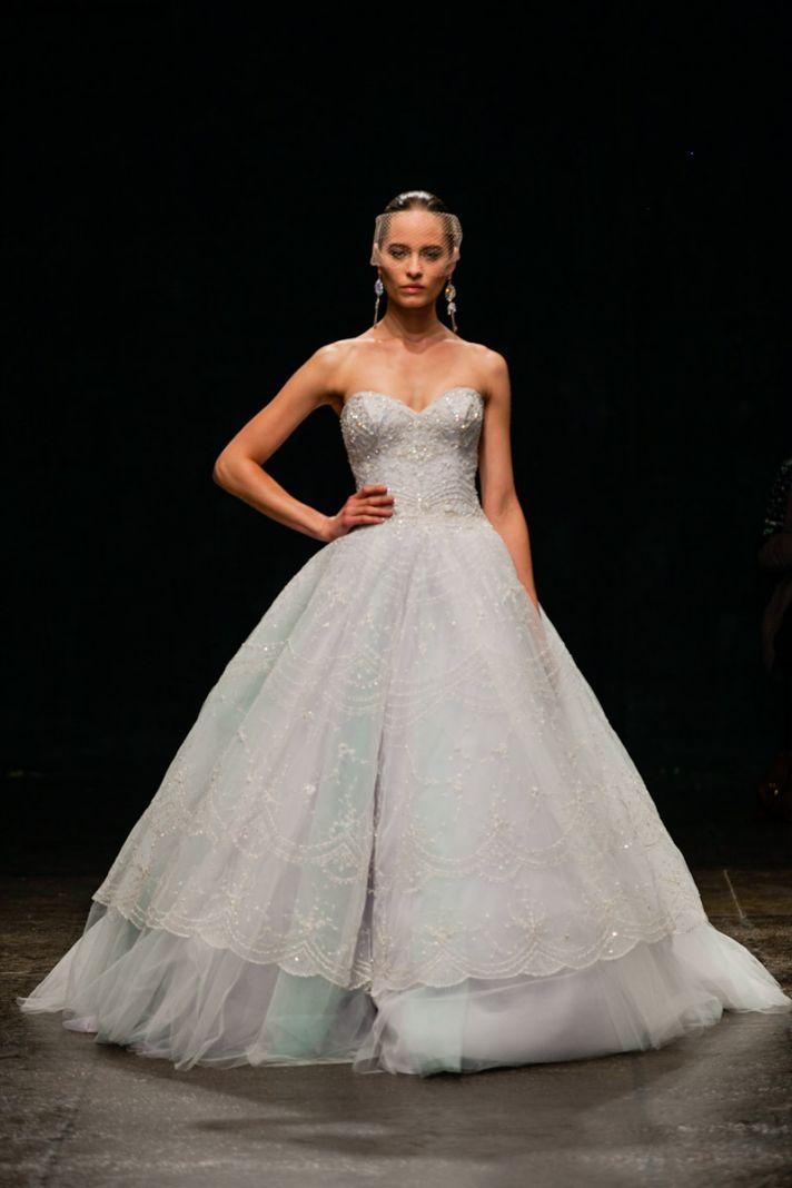 Spring 2013 wedding dress Lazaro bridal gowns 3320 detail