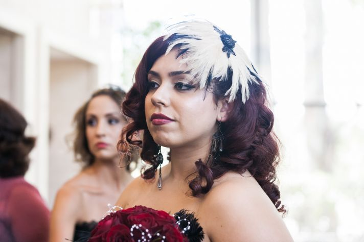 epic wedding in Los Angeles California weddings retro bridesmaid