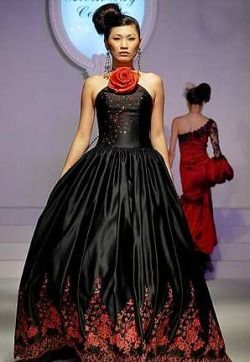 Black   Dress on Black And Red Dress Via Prom Dresses