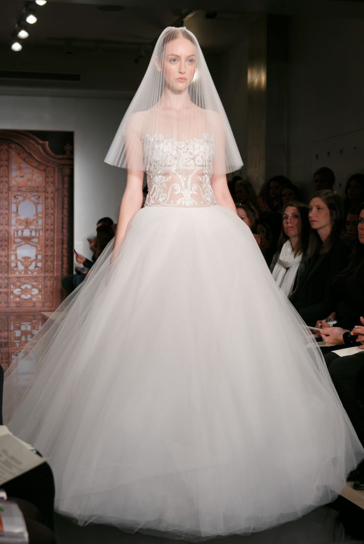 Reem Acra wedding dress Fall 2013 bridal Frances Shes every dream