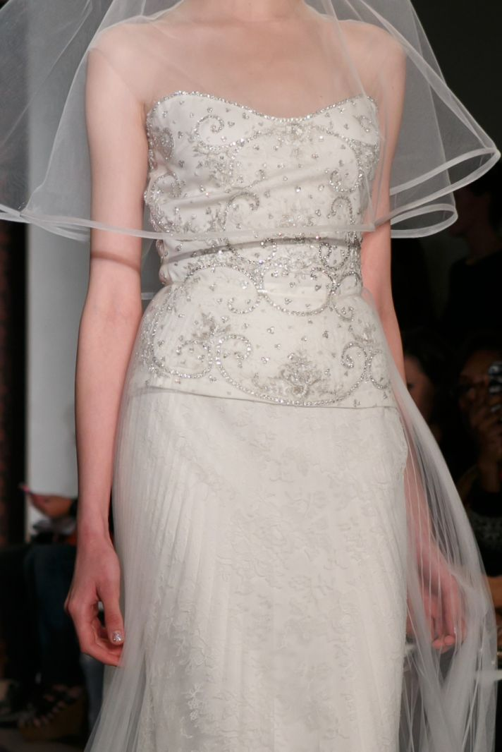 Reem Acra wedding dress Fall 2013 bridal Melise Rich Lucky Lace 1