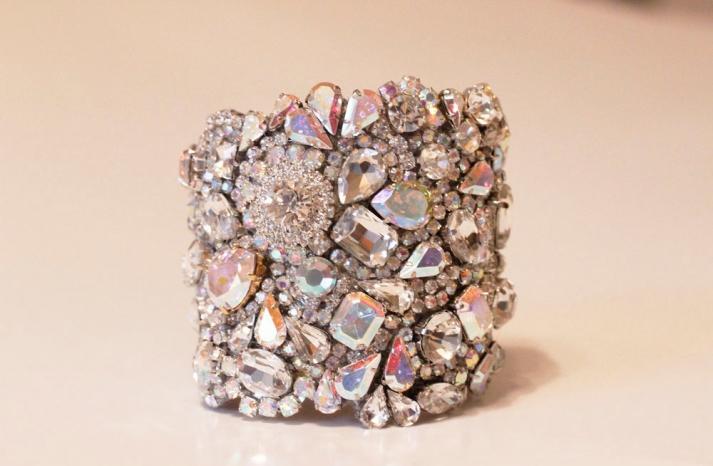 bridal cuff bracelet handmade wedding accessories 8