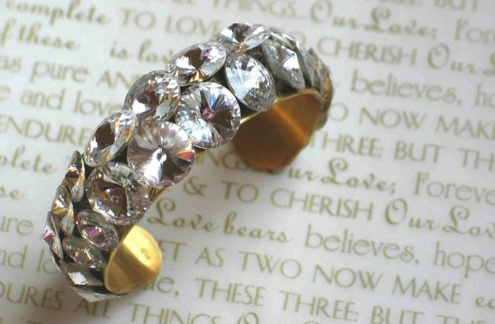 bridal cuff bracelet handmade wedding accessories 4