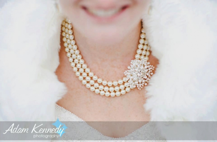Handmade Weddings How to style a romantic winter wedding pearl necklace