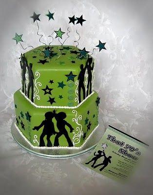 Seventies Disco Theme Cake sm