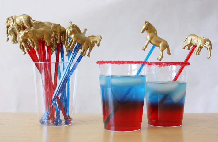 Election Day Inspiration for Patriotic Nearlyweds drink stirs