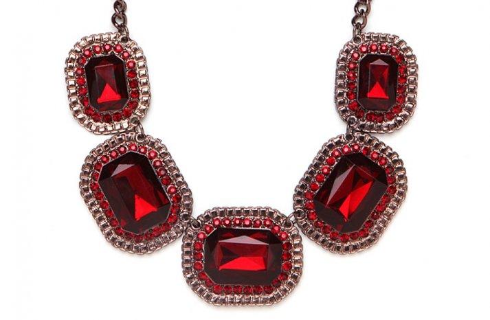 Red Wedding Accessories statement bridal necklace