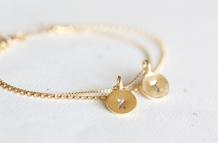 Unique Wedding Gifts for Bridesmaids Initial Jewelry Accessories 12