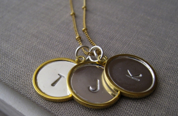 Unique Wedding Gifts for Bridesmaids Initial Jewelry Accessories 17