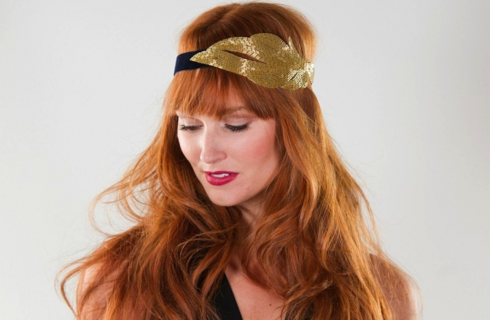 Glittery Gold Wedding Finds for Glam Handmade Weddings vintage inspired headband