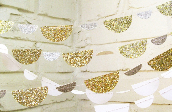 Glittery Gold Wedding Finds for Glam Handmade Weddings whimsical garland