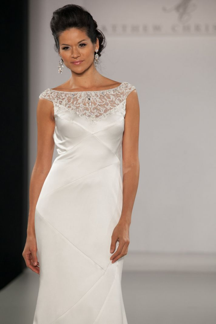 Fall 2013 wedding dress by Matthew Christopher bridal 12