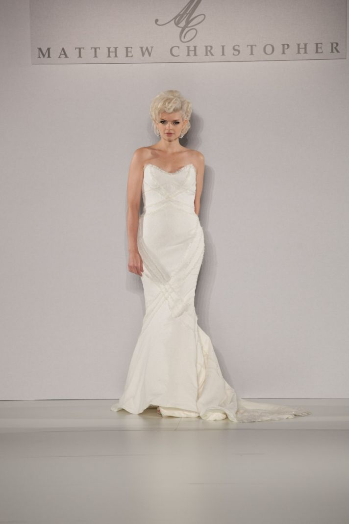 Fall 2013 wedding dress by Matthew Christopher bridal 5