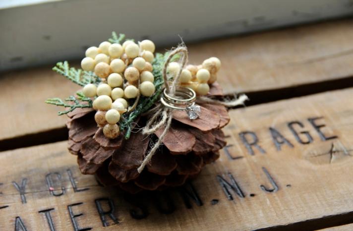 Rustic Wedding Ideas Woodland Weddings by Etsy ring bearer alternative