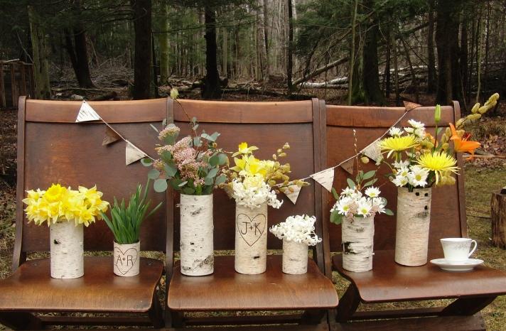 Rustic Wedding Ideas Woodland Weddings by Etsy centerpiece set