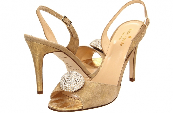 Wedding Accessories Inspiration Shimmery Bridal Heels Kate Spade 3
