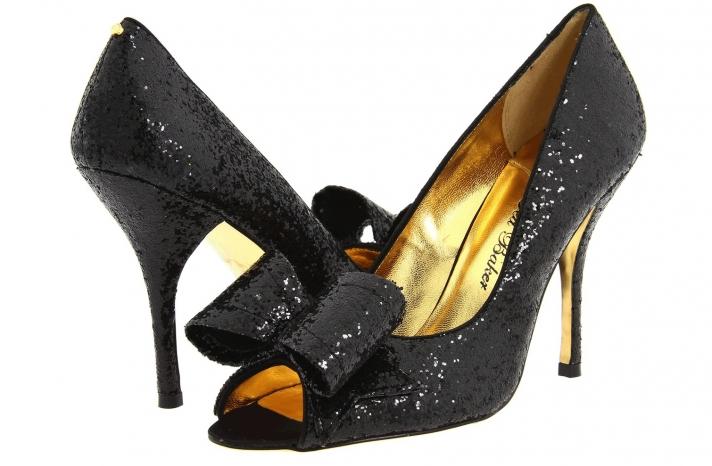 Wedding Accessories Inspiration Shimmery Bridal Heels Ted Baker black